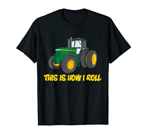 This is How I Roll Farmer Tractor T-shirt, Farming Gift ()
