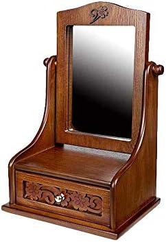 よく作られた大きな木製のジュエリー/化粧化粧台-鏡台-木製化粧台、化粧化粧台、浴室の化粧台用の引き出し付き 可愛い