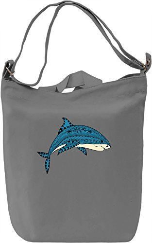 Shark Borsa Giornaliera Canvas Canvas Day Bag| 100% Premium Cotton Canvas| DTG Printing|