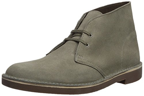 Clarks Suede Boots - CLARKS Men's Bushacre 2 Chukka Boot, Sage Suede, 12 Medium US