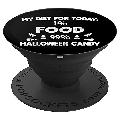 Halloween Food Diet Workout Funny Gift Candy - PopSockets Grip and Stand for Phones and -