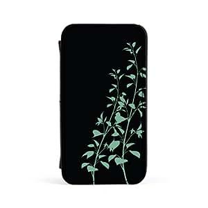 Leafy Stem Black Carcasa Protectora Premiun PU en Cuero, con Tapa para Apple® iPhone 4 / 4s de Gadget Glamour + Se incluye un protector de pantalla transparente GRATIS