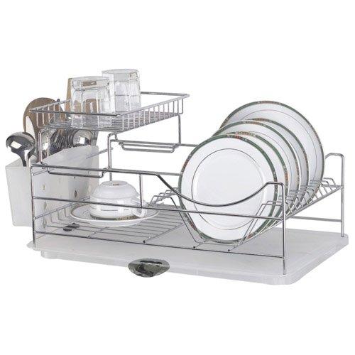 Sakura Two-tiers Compact Dish Rack / Kitchenware Dish Drying