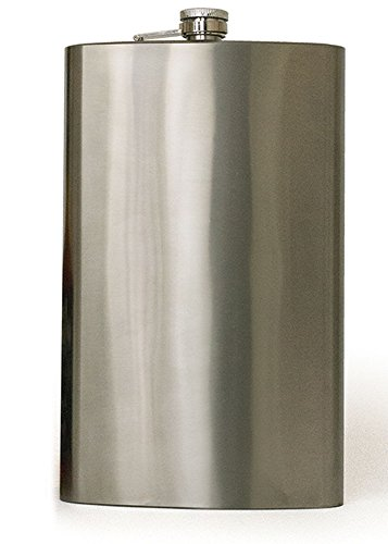 Jumbo 64 Oz Stainless Steel Metal Liquor Flask for Men Women - No Spill Cap - Portable Travel Drinks Alcohol Spirits Whiskey Parties Giant Drinking - Flask Spirit