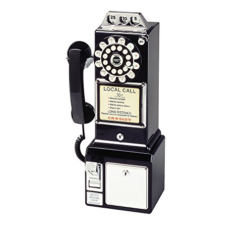 DEER-CR56BK-Crosley CR56-BK 1950s Payphone with Push Button