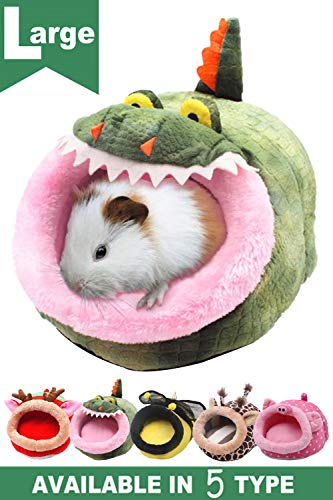 (JanYoo Ferret Chinchilla Cage Toys Accessories House Bed Hideout Removable Cushion)