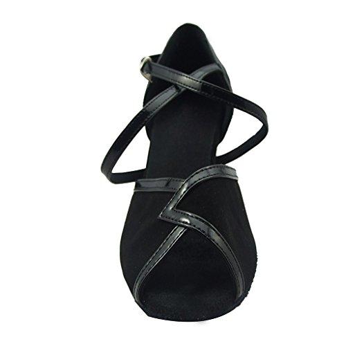 Para Danza Mujer Zapatillas De Negro Misu x7pvwqn