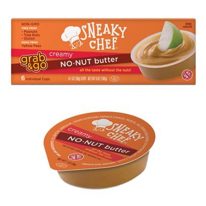 Creamy Soy Nut Butter - The Sneaky Chef No-Nut Butter, Grab and Go, 6 Ounce