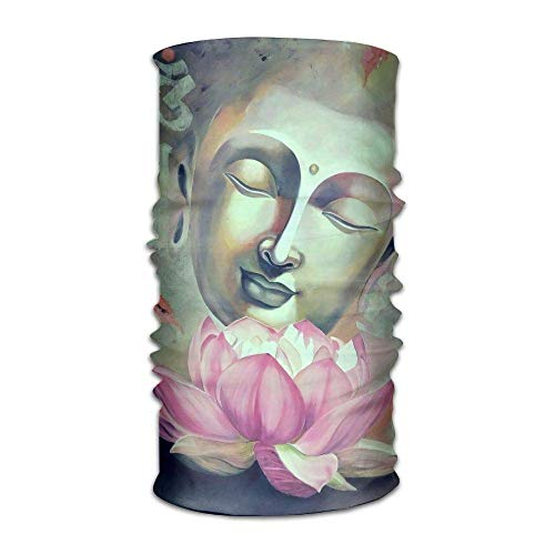 Magic Multi Function Headbands Buddha And Lotus Seamless Turban Headwear Headwrap Face Sun Mask Headdress Head Neck Scarf Cap for Women and Men Headscarfs -