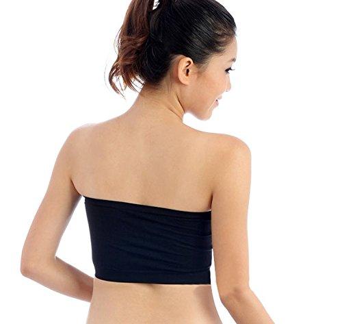 b2abed6576 Qunson Women s Strapless Stretch Layer Seamless Tube Bra Bandeau Top