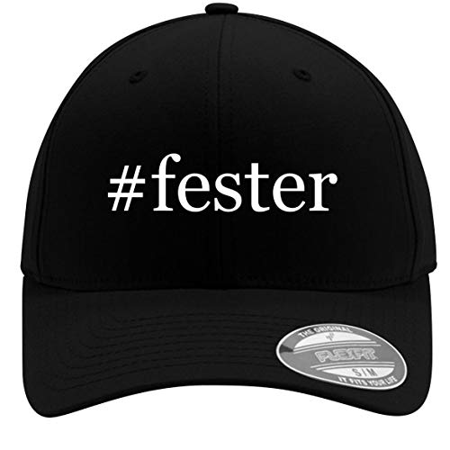 #Fester - Adult Men's Hashtag Flexfit Baseball Hat Cap, Black, Large/X-Large ()
