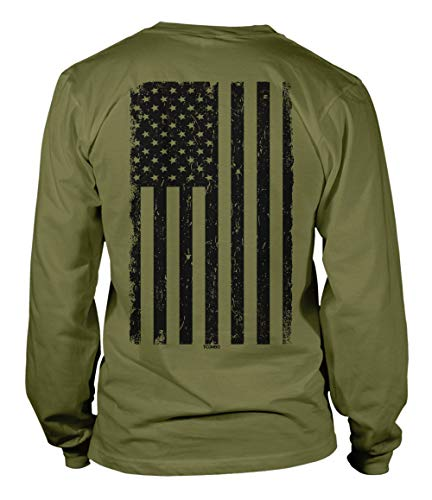 Distressed Black USA Flag - United States Unisex