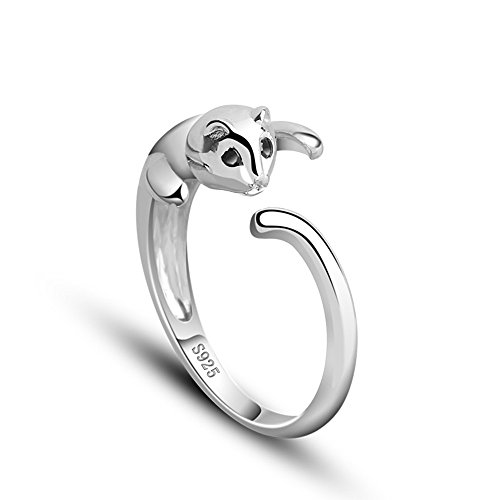 tabwing 925 sterling silver cat ring all sizes adjustable