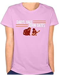 Womens Daryl Hall and John Oates Tour Leisure Travel Pink T-Shirt Short Sleeve