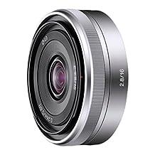 Sony Alpha SEL16F28 E-mount 16mm F2.8 Lens (Silver)