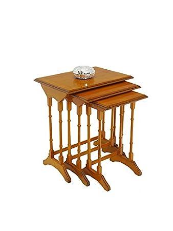 Beistelltisch Tisch Blumentisch 3er Set Antik Stil In Eibe H 5956