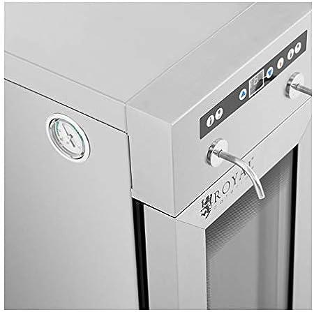 Royal Catering Nevera Para Vinos Refrigerador Vinoteca RC-WDSS2 (Potencia: 95 W, Con dispensador, Para 2 botellas, Acero inoxidable, vidrio y plástico)