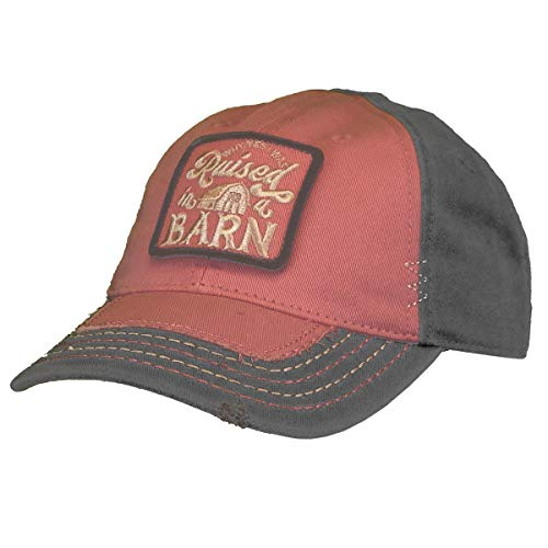 John Deere Do Good Today Youth Raised in A Barn Cap-Dark Rose-Os (In Made Deere John)