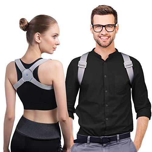🥇 konjac Corrector de Postura Espalda Inteligente con Vibración para Hombre y Mujer