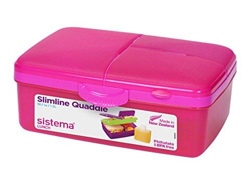Sistema Lunch Slimline Quaddie Lunchbox with Bottle