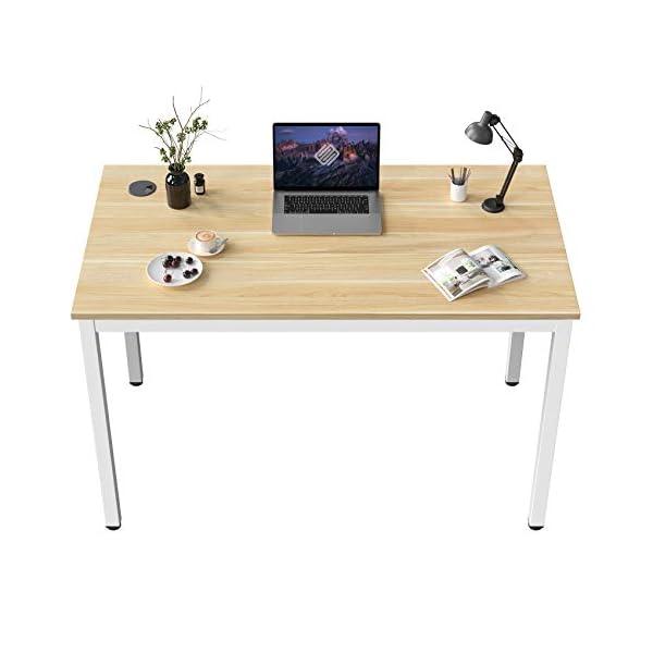 EUREKA ERGONOMIC Bureau Informatique Bureau d'ordinateur Petit Bois Moderne Simple Table pour Travail D'étude Maison 80…