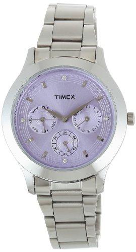 Timex E Class Analog Purple Dial Women #39;s Watch   TI000Q80500
