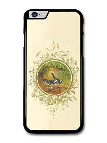Classic Retro Vintage Illustration of Birds in Water with Floral Livery case for iPhone 6 Plus 6S Plus