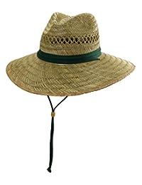 Safari Rush Straw Sun Hat - Dark Green - Large