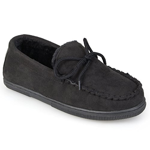boston-traveler-mens-faux-suede-mocassin-slippers-black-9