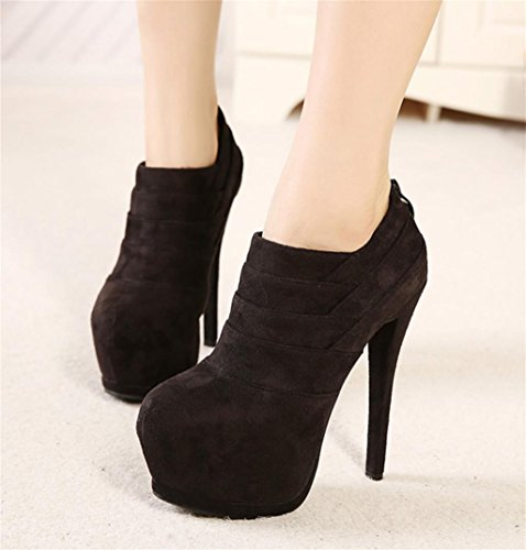 Temperament HETAO Booties Boots Womens elegant shoes Block Ladies Heeled Chelsea Platform Black Ankle Heels Size High Personality Heel rr0q6wAa