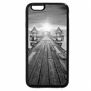 iPhone 6S Case, iPhone 6 Case (Black & White) - Sunrise in Bangkok - Thailand