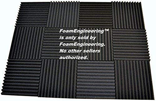 12 Pack - Acoustic Panels Studio Soundproofing Foam Wedge tiles 1x12x12 100% Made in USA