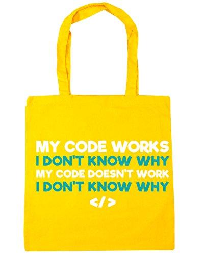 HippoWarehouse mi código funciona, no Sé por Qué Mi código no trabajo no Sé por Qué Tote Compras Bolsa de playa 42cm x38cm, 10litros amarillo