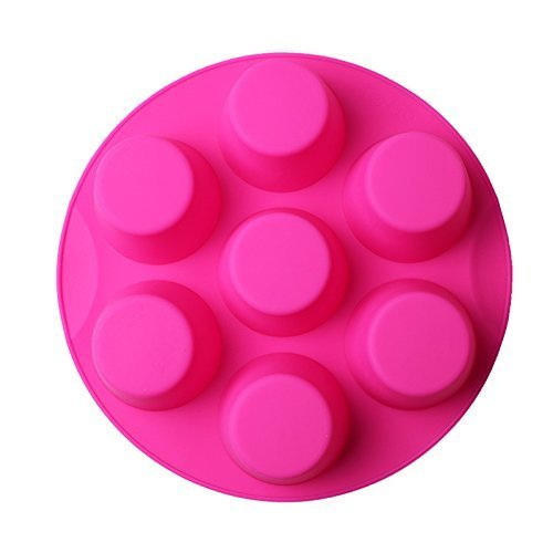 7 Hole Silicone Egg Bites Molds for Instant Pot Accessory for 5,6,8 qt Pressure Cooker, Reusable Storage Container, Best gift for Kitchen, Baking, Kids, Children. (random color Pink or green) by RUN-snail (Image #2)