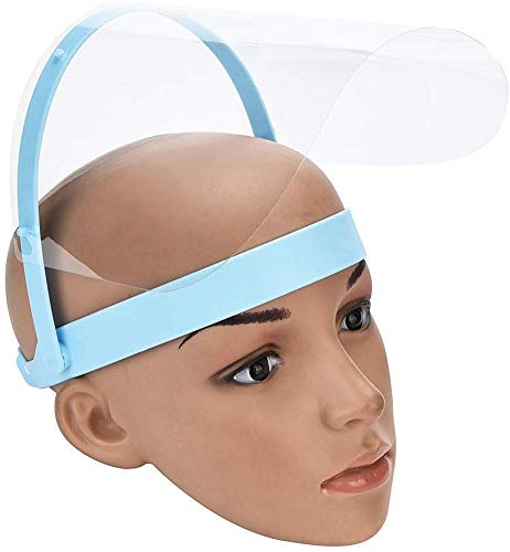 Máscara Anti y Saliva película Protectora Máscara Médica, 10 Piezas Careta Protectora de la película de Recambio para el Marco Ajustable Visera 8
