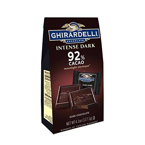 - Ghirardelli Moonlight Mystique Intense Dark 92% Cacao Squares Bag, 4.1 Ounce, Pack of 6