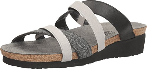NAOT Women's Roxanna Anatomic Sandals, Grey, Leather, Suede, Cork, Latex, 39 M EU, 8-8.5 M by NAOT