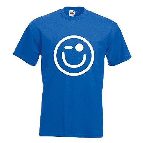Kiwistar En L Couleurs Xxl Motif Fun Xl Royal Homme Wink Coton Smiley T shirt S Imprimé 15 Différentes M 66arqP