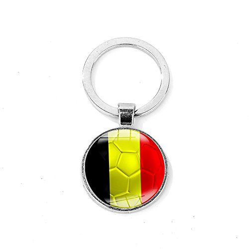20032746ae1 GZQ 2pcs Keychain Key Rings with A National Flags Pattern Pendant FIFA  Russia World Cup Football