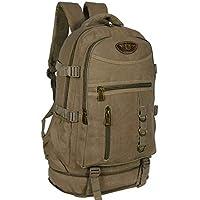 mochila de camping em lona grande 50 litros masculina resistente promoção