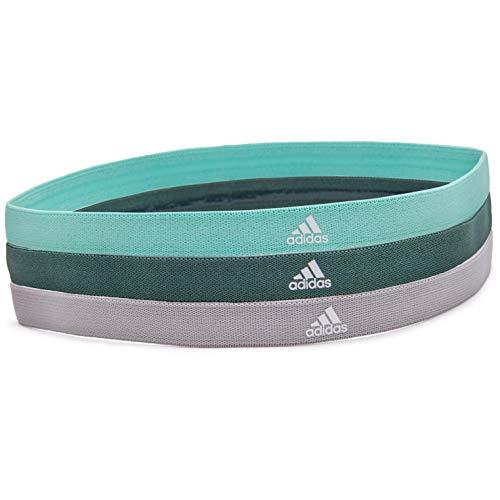 adidas Sports Hair Bands - Grey, Green, Mint