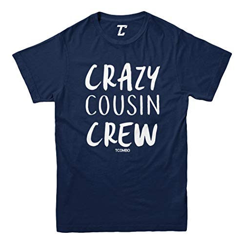 Crazy Cousin Crew - Cute Funny Youth T-Shirt (Navy Blue, - Grandpa T-shirt Youth