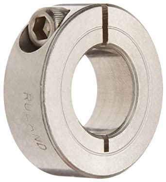 .500 Bore Ruland SP-8-A Two-Piece Clamping Shaft Collar 13//32 Width 1 1//8 OD Aluminum Pack of 2