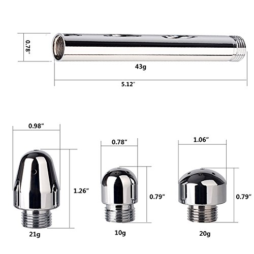 New Style 3 Heads Aluminum Enema Shower Healthy Rectal Syringe Vaginal Anal Cleaner Colonic Douche System Cleaner by ILANS (Image #8)