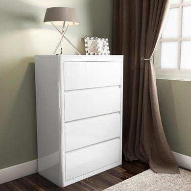 Image Unavailable Image Not Available For Color Chest Of Drawers White High Gloss