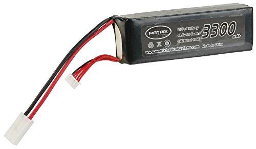 Evike Matrix 14.8V 3300 mAh 65C Purpose Built LiPo (Lithium Polymer) Battery - Large Tamiya