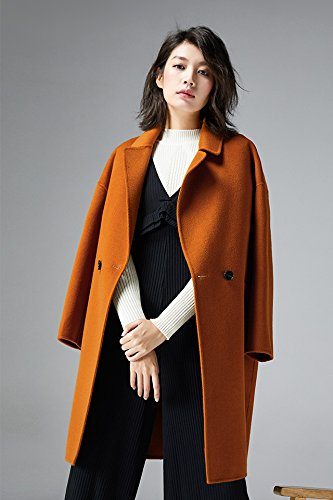 a2c8e33766d1 Amazon.com   fashion long section double-sided wool coat female 2018 autumn  and winter Korean fashion loose woolen jacket for women girl   Beauty