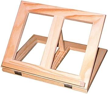 Atril de madera para soporte de libro. En madera natural. Se puede ...