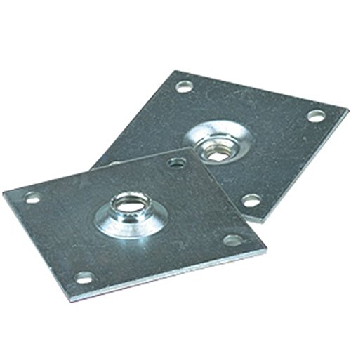 Removable Square Mounting Plate - 3-1/2'' x 3-1/2'' w/ 1/2-13 THD