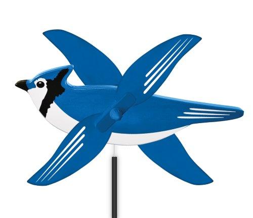 WindNSun WhirlyGig Outdoor Animated Decor, Blue Jay ()